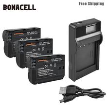 Bonacell 2800mAh EN-EL15 ENEL15 EN EL15 Camera Battery+LCD Charger For Nikon DSLR D600 D610 D800 D800E D810 D7000 D7100 L50 meike battery grip for nikon d800 d800e as en el15 mb d12