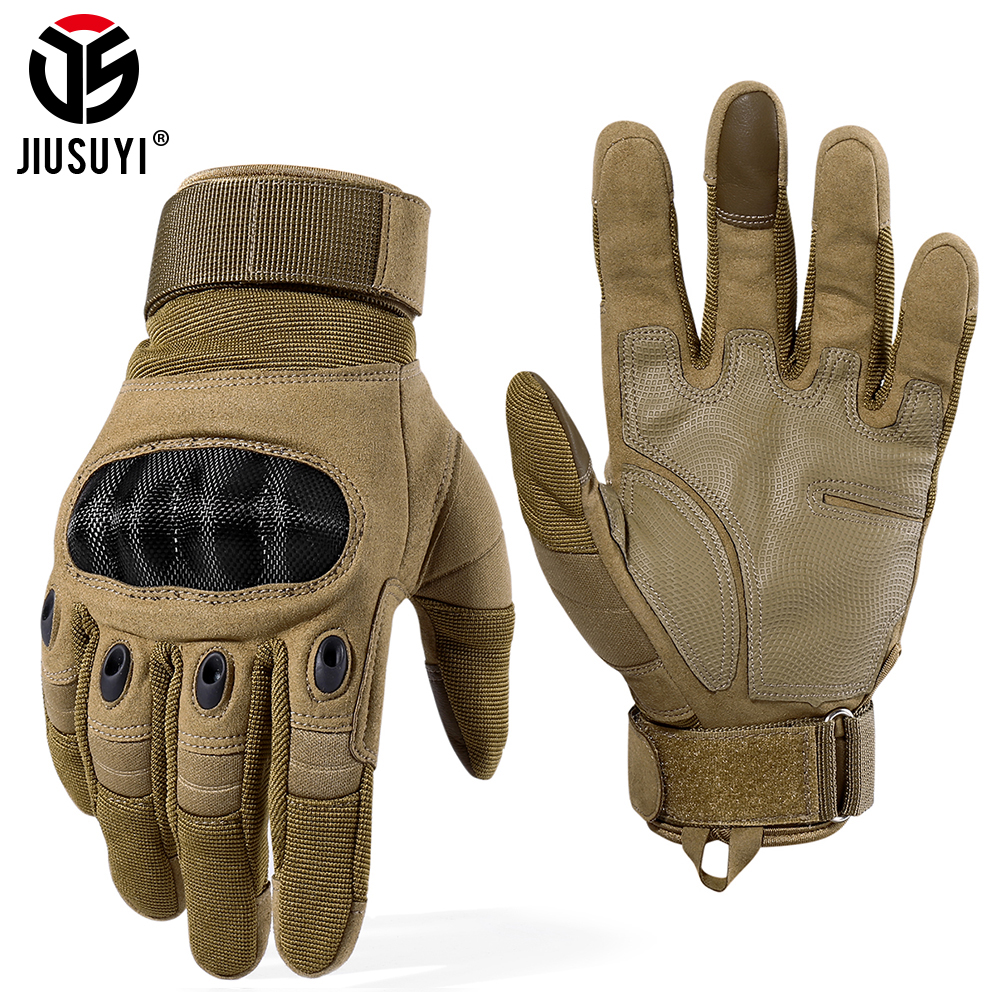 Touch Screen Tactical Army Anti-skid Hard Knuckle Full Finger Gloves Military Paintball Airsoft Combat Shooting Fighting Bicycle