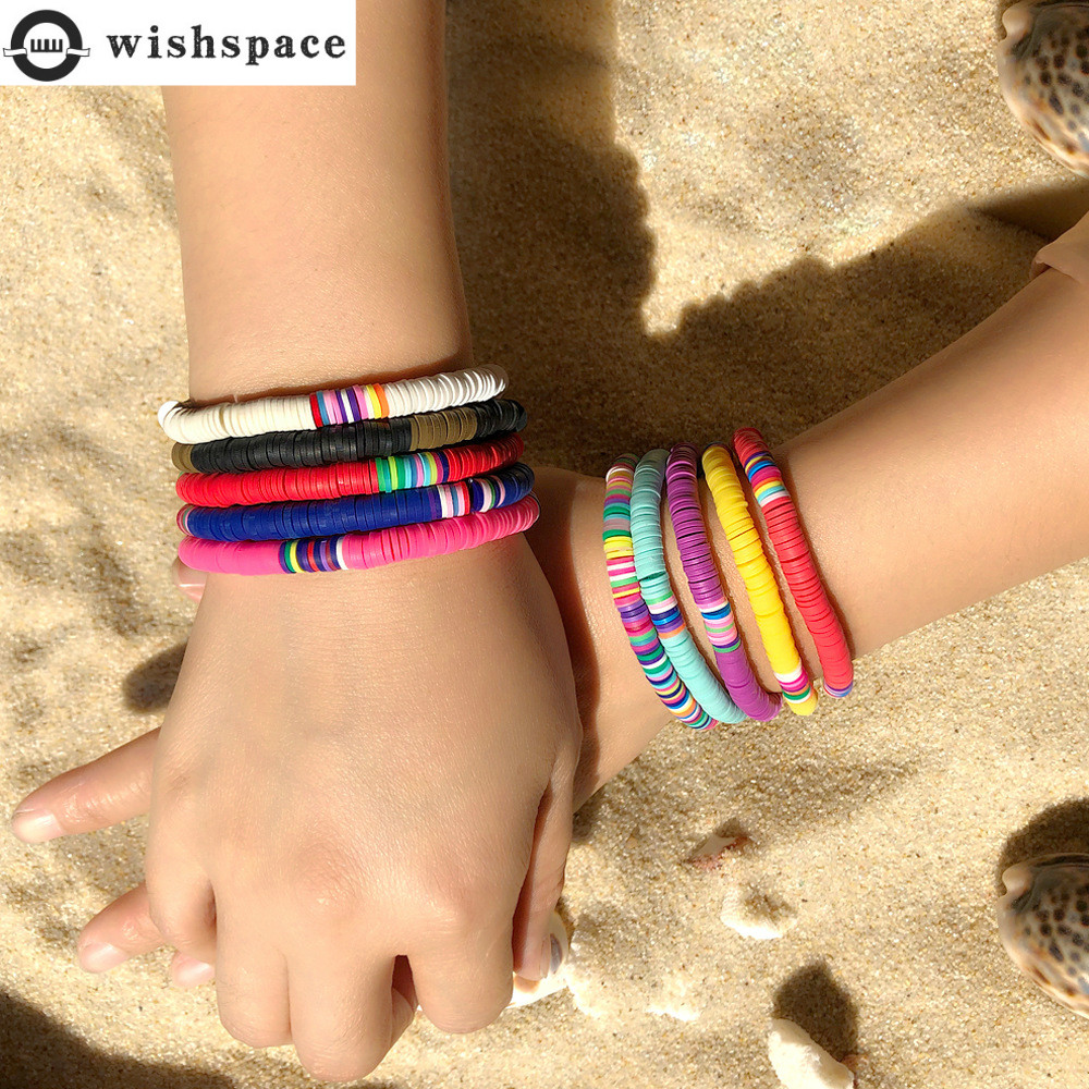 Wishsapce. Bohemia summer beach wind fashionable woman color bracelet ls summer fashion jewelry wholesale
