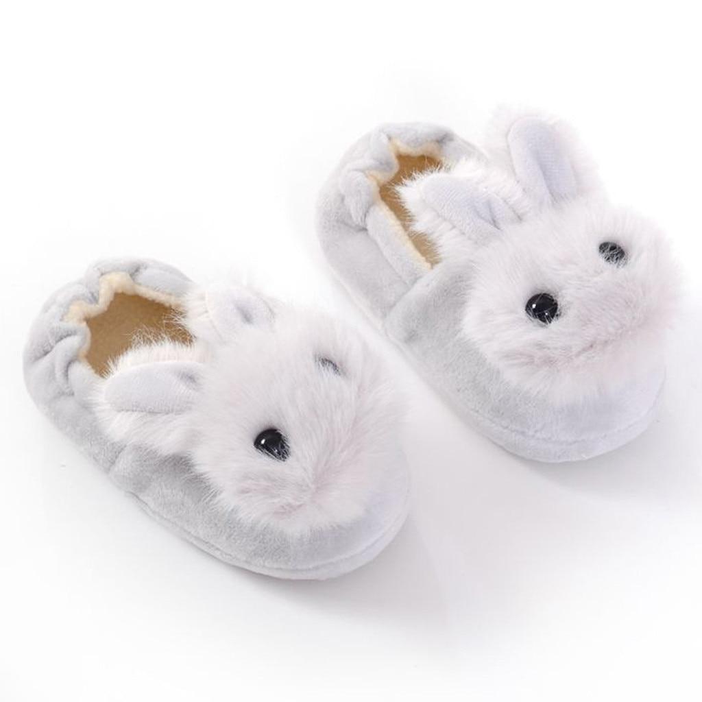 Haef9dd1fc54e4e27ba02ddc1c4a87e1as Sapatos para crianças de algodão, sapatos para crianças meninos e meninas de outono, chinelos fofos com orelhas de coelho, espessamento de bola, sapatos internos