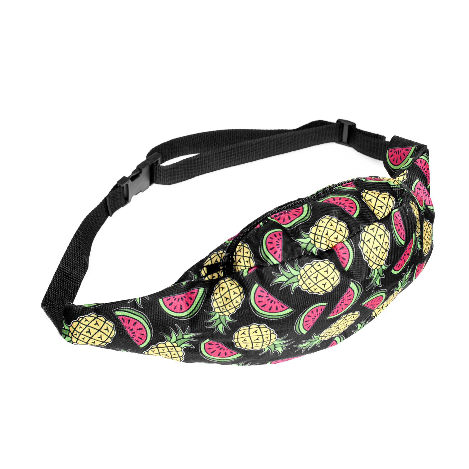 New Watermelon Pineapple Print Waterproof Waist Pack Belt Bag Waist Bag Chest Shoulder Bag Phone Holder With Adjustable Strap
