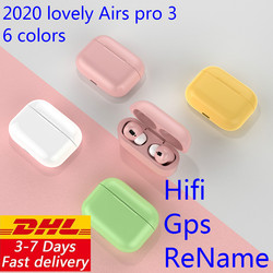 Dhl 10/50 unids/lote Macaron Airs Pro 3 TWS 1: 1 auriculares inalámbricos Bluetooth auriculares estéreo intrauriculares auriculares teléfono inteligente