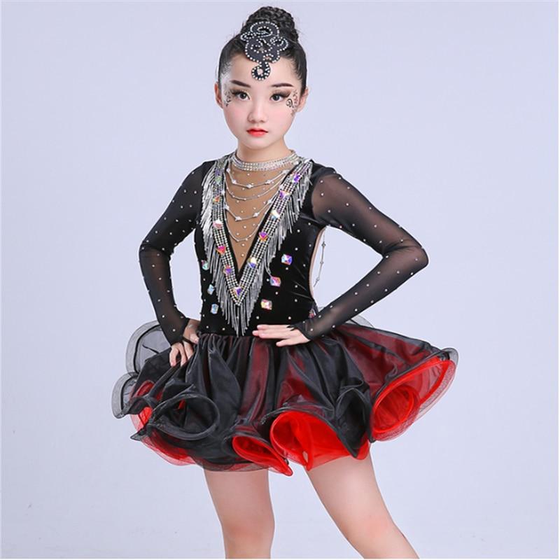 Latin Dance Dress Professional Costume For Girls Women Fringe Samba Costume Salsa/Ballroom/Tango/Cha Cha Competition Dresses