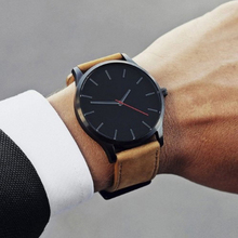 цены Men's Watch Large Dal Leather Strap Male Clock Simple Fashion Sports Business Men Watches Quartz Wristwatch