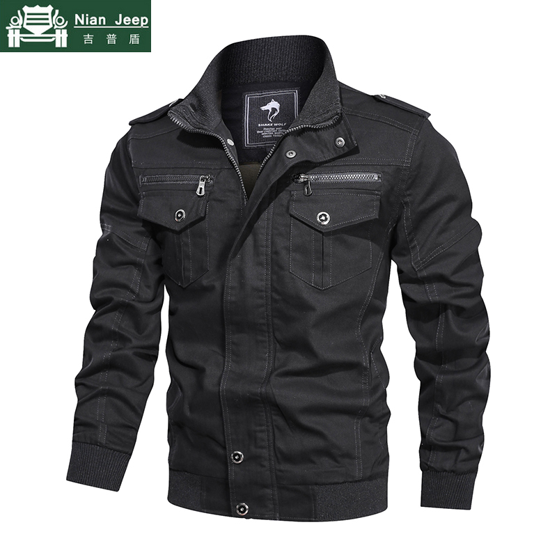 New Bomber Jacket Men Military Clothing Casual Spring Autumn Jacket men Army Tactical Jackets chaqueta hombre Plus Size L-5XL