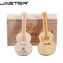 JASTER (free LOGO) guitar shaped pen drive wooden music usb 2 0 flash drive memory Stick pendrive 4GB 16GB 32GB 64GB cheap 20 2g Creative NECKLACE May-13