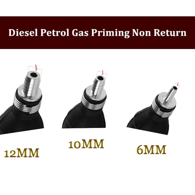 6mm Fuel Primer Bulb Hand Pump Diesel Petrol Gas Priming Hose For Vehicle Car
