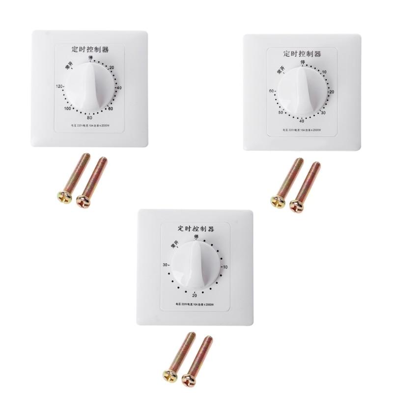 Механический контроллер обратного отсчета переменного тока 220 в Φ Pump, прерыватель переключения времени на 30/60/120 минут