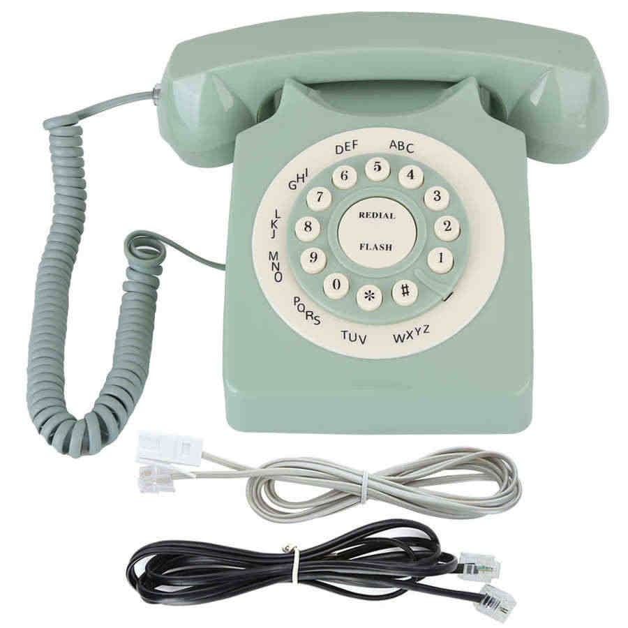 Hyuduo1 Vintage Telephone,European Vintage Style Wired Landline Old Fashioned Telephone with Backlight