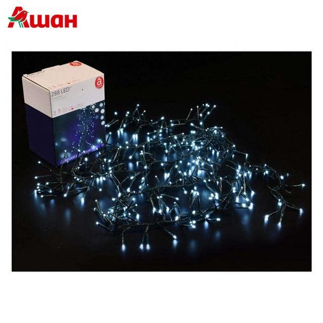 Электрическая гирлянда Actuel, 288 ламп, 9 режимов, белый, 240 см