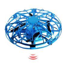 Мини-Дрон анти-столкновения Летающий вертолет волшебный ручной НЛО-шар самолет зондирования индукционный Дрон дети электрическая электронная игрушка
