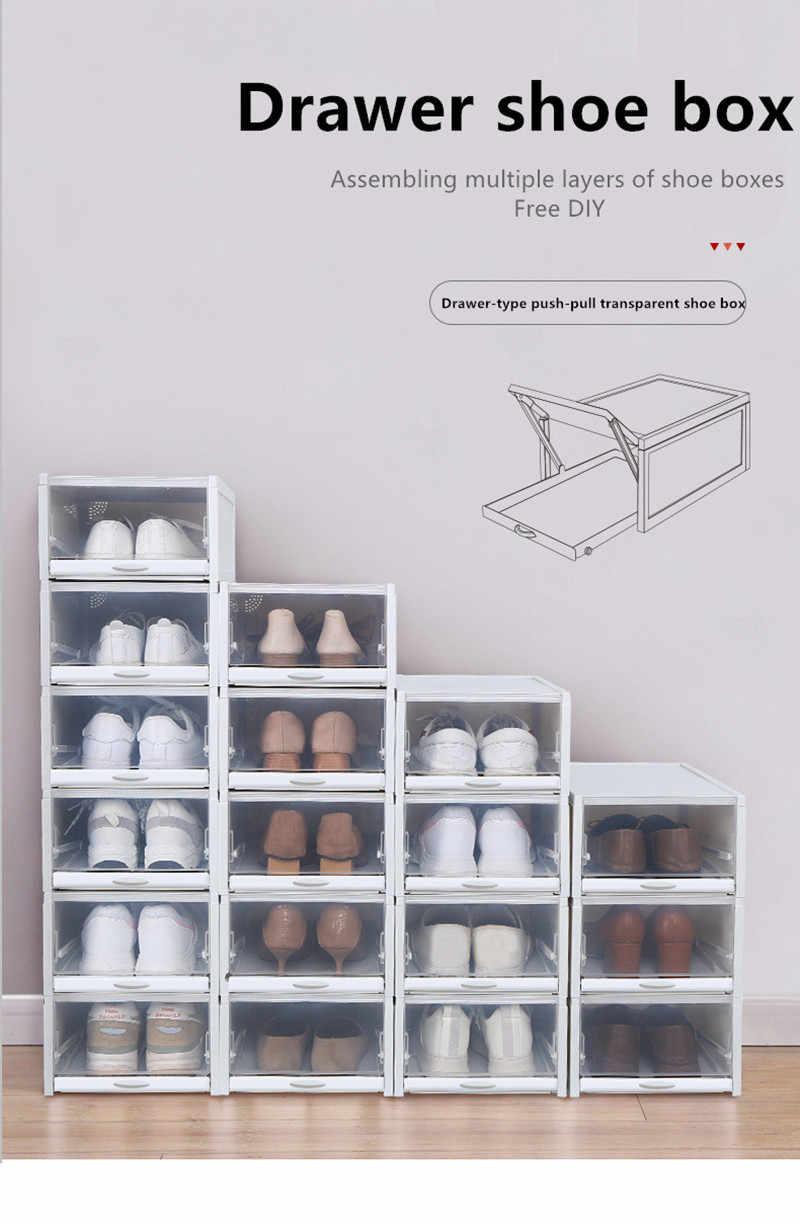 Plastic Pull Shoe Storage Box Container