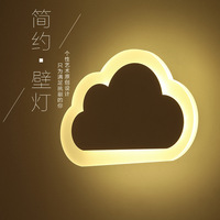 Wall Lamp Originality Flaky Clouds Lamp Concise Modern Male Girl Cartoon Led Wall Lamp Northern Europe Bedroom Bedside Lamp