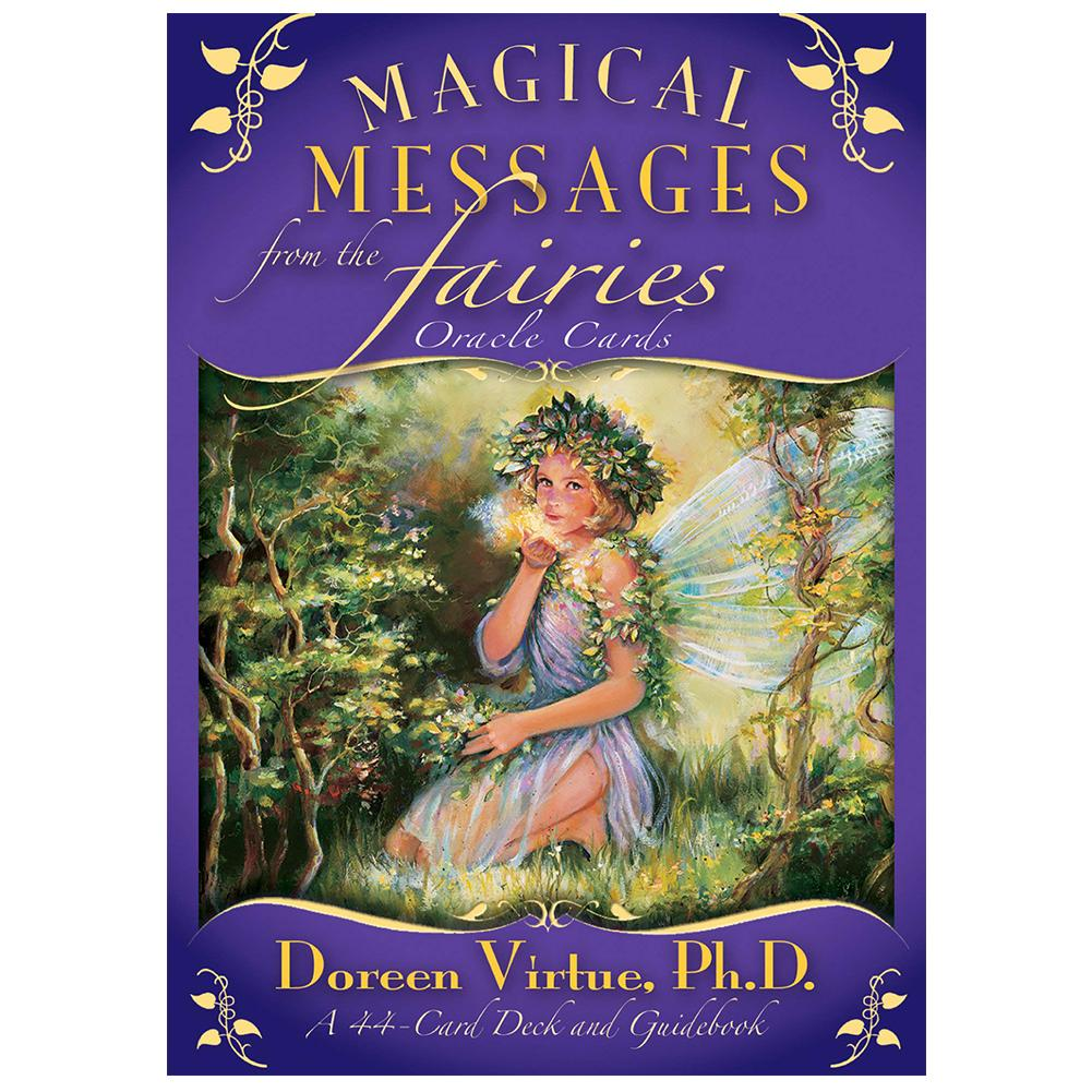 New 44Pcs Magical Messages From The Fairies English Tarot Oracle Natural Angel Mucha Tarot Card Deck Tarot Card Game Divination