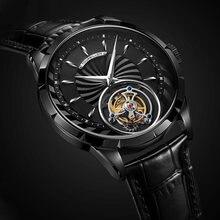 Механические наручные часы aesop с турбийоном мужские скелетоны