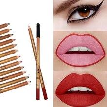 New Matte  Eyeliner Lip Liner Pencil Easy Dyeing Waterproof Smudge-proof Multifunction Cosmetics 12 Colors
