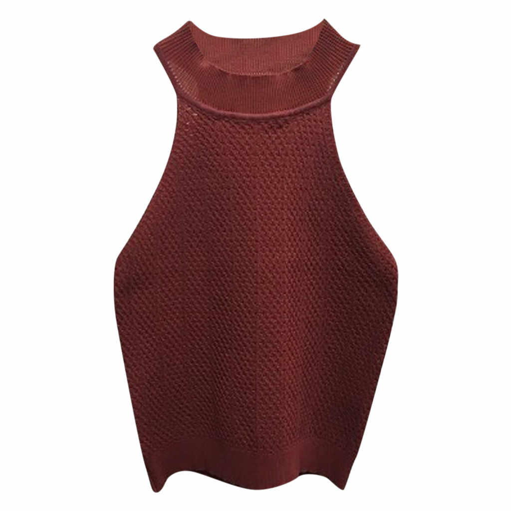 あなたはをクリックしてしないようにとか? ファッション女性カジュアルノースリーブニットベスト O ネック固体女性スリムトップスドロップシッピング