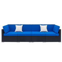 NEW 4 Seat Living Room Sofa Set Home Furniture Modern Design Frame Soft Sponge U Shape Home Furniture