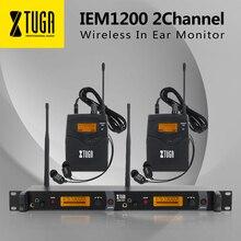 XTUGA IEM1200 в ухо монитор беспроводной системы SR2050 Двойной передатчик мониторинга Профессиональный для сцены производительность