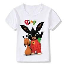 2021 novo bing t camisa meninas meninos kawaii crianças roupas coelhos dos desenhos animados impressão gráfica tshirt roupas para crianças topos