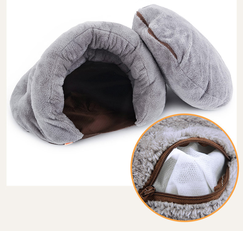 Triangle Pet bed for Small Cats Dogs Soft Nest Kennel Bed Cave House Sleeping Bag Mat Pad Tent Pets Winter Warm Cozy Beds Supply 10