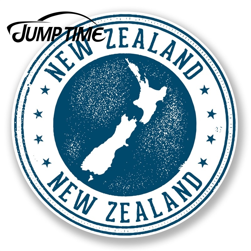 Jump Time New Zealand Vinyl Sticker Decal Luggage Travel Label Tag Map FlagWaterproof Car Decal Trunk Car Accessories