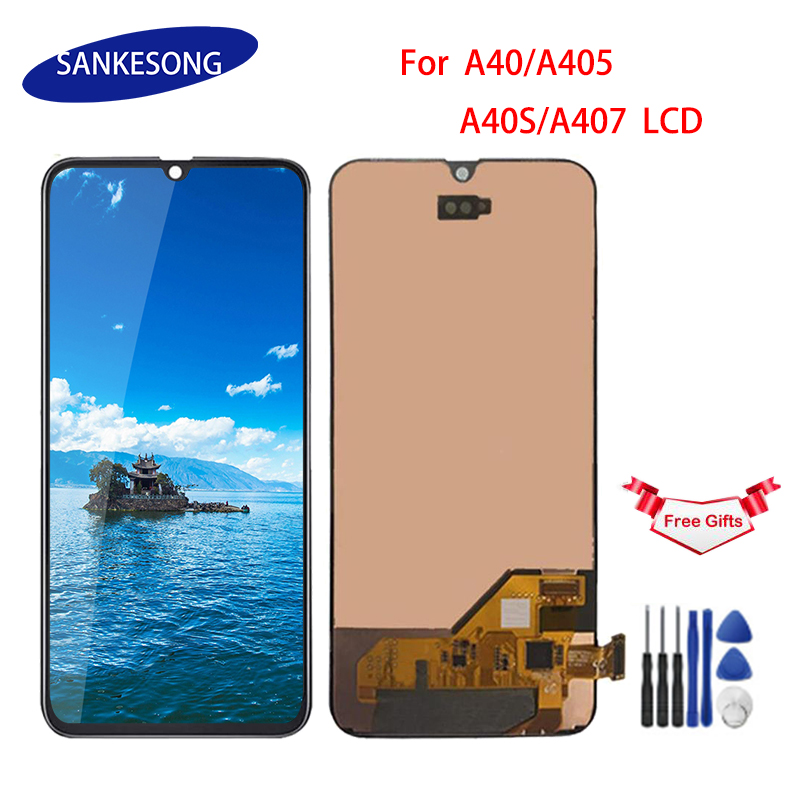 For Samsung A40 LCD A405 A40s A407 LCD Display Touch Screen Digitizer Assembly With Frame Screen Replacement Repair Parts