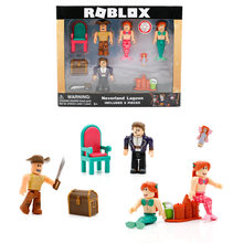 Cross-Border Selling Virtual World Roblox Building Blocks Doll Mermaid Game Garage Kit Decoration Color Box in Bags(China)