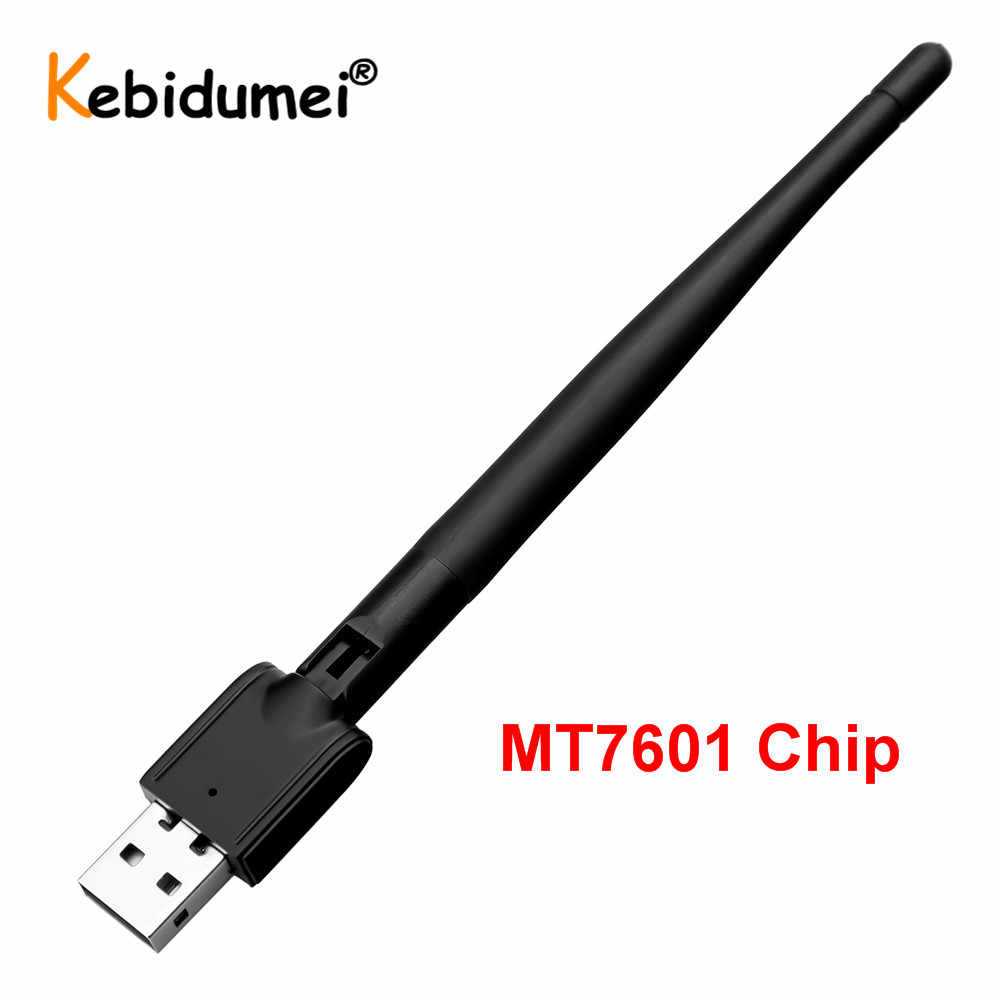 WIFI USB Adapter MT7601 150Mbps USB 2,0 Wireless Netzwerk Karte LAN Adapter Wi-Fi Antenne für Laptop Digitalen Satelliten-receiver