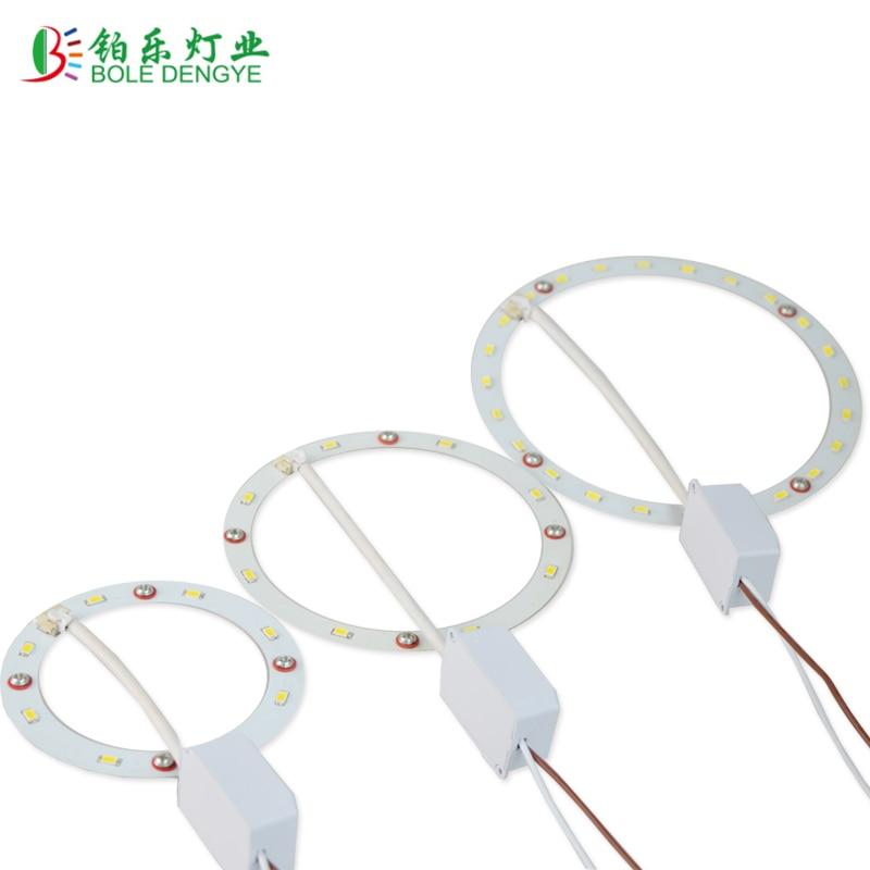 Panel de luz LED Circular PCB, 4W, 5W, 12W, SMD5730
