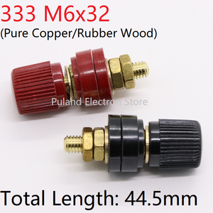 Copper 333 M6*32 Wire Binding Post Thread Screw Dia 6mm Brass Weld Machine Inverter Clamp Power Supply Connector Terminal Splice