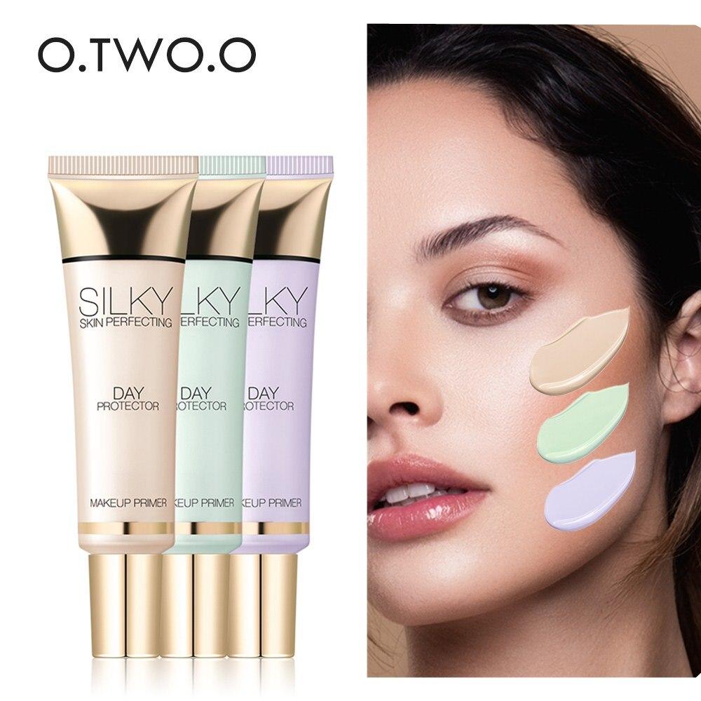 O.TWO.O 25ML Face Primer Makeup Base Skin Brighten Matte Primer Moisturzing Concealer Natural Purple Green Facial Nude Make Up