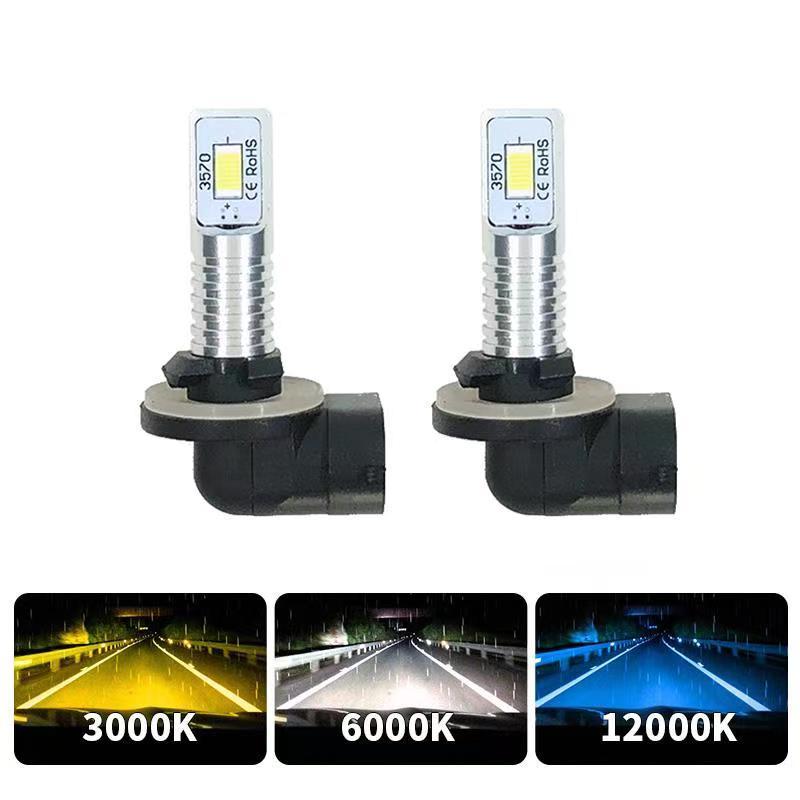 Y-PUEI автомобиля 1300LM светодиодный противотуманный фонарь с can-bus H1 H3 светодиодный 880 881 h27w/1 h27w1 h27w2 h27w/2 DRL Вождения LED светильник s супер яркий авт...