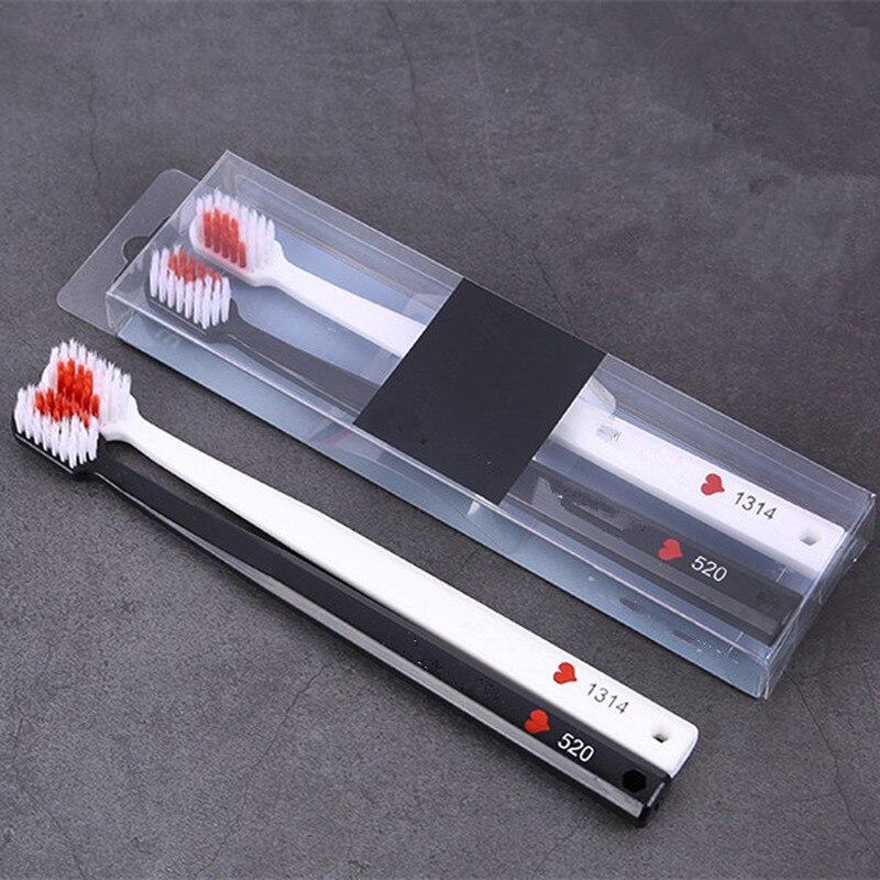 Зубная щетка для взрослых, профессиональный прибор для защиты от бактерий, с рисунком сердца, хороший уход за зубами