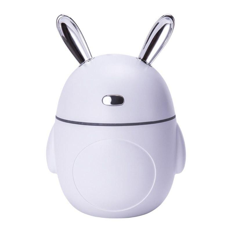 LED Light Rabbit Bunny Air Humidifier Aroma Essential Oil Diffuser USB Fogger Mist Maker Home Car Hotel Decor 320mL New 2019