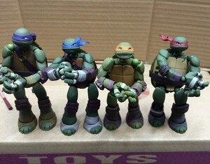 Фигурки аниме Leonardo Donatello, микеланжело Рафаэль, мультфильм черепаха, ПВХ фигурки, модель игрушечная черепаха 14 см