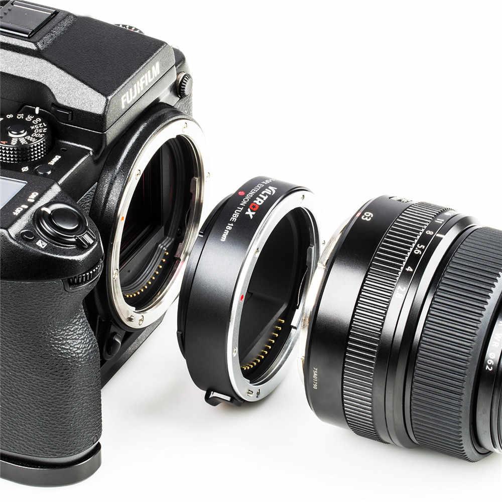Viltrox DG-GFX 18 مللي متر السيارات التركيز محول العدسة ماكرو تمديد أنبوب محول العدسة G جبل للكاميرا FUJIFILM GFX50S GFX50R GFX100