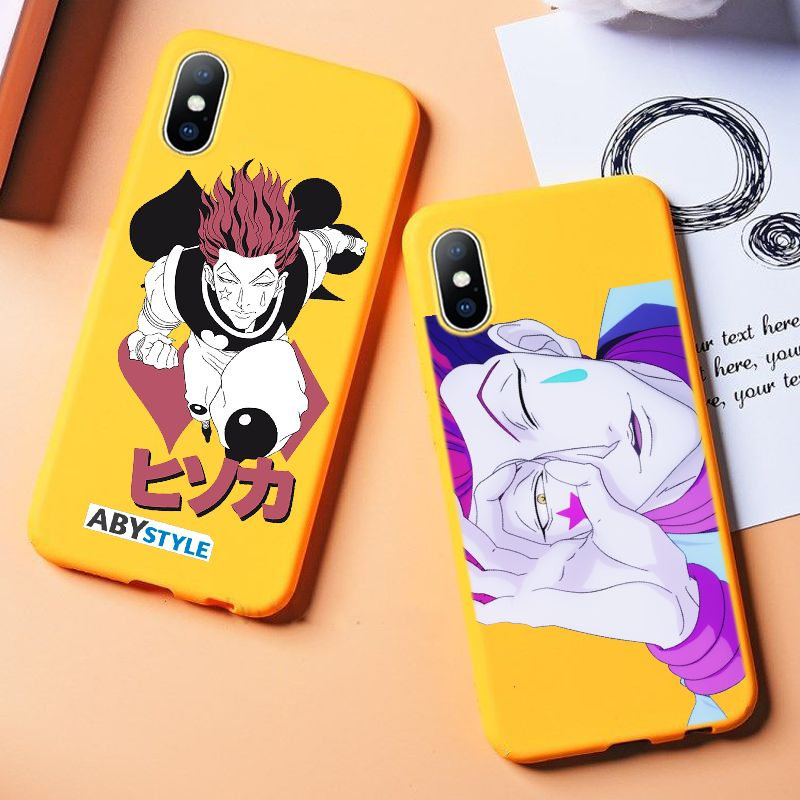 For iphone 11 Yellow Phone Case Funny Hisoka Anime Hunter X hunter Funda Phone Cover For iPhone 6 6s 7 8 Plus X XR XS 11 ProMax(China)