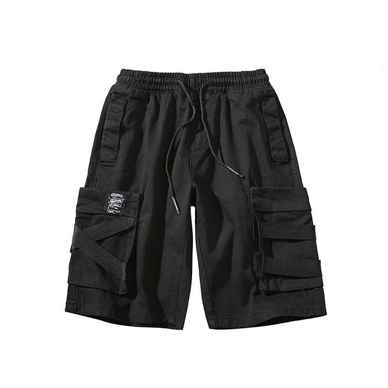Cargo Shorts Japanese Loose Summer Korean Version Trend Five-point Pants Men Casual Sports Pants Breathable Casual Shorts Men
