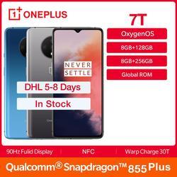 В наличии, OnePlus 7T, новинка, глобальная ПЗУ, Смартфон Snapdragon 855 Plus, 6,55 ''AMOLED дисплей, 90 Гц, 48MP, тройная камера, 30 Вт, зарядка, NFC