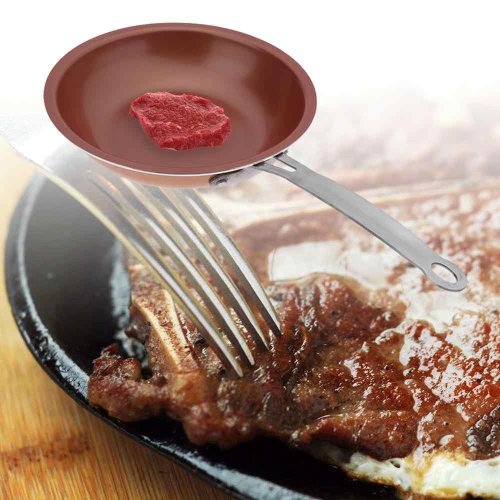 24cm Ronde Koperen non-stick Pan Biefstuk Ei Koekenpan Keuken Koken Gereedschap