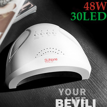SUNONE 48W Nail UV Lamp Nail Art Gel Metalic Builder Gel Droger LED Nail Drogen Tool Manicure UV Lamp voor Curing Machine LD07-1