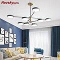 Современные светодиодные люстры в гостиную led освещение для кухни потолочная люстра в спальню люстра потолочная для столовой макарон потол...