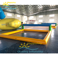 Water Play sport games inflatable floating water volleyball court filed