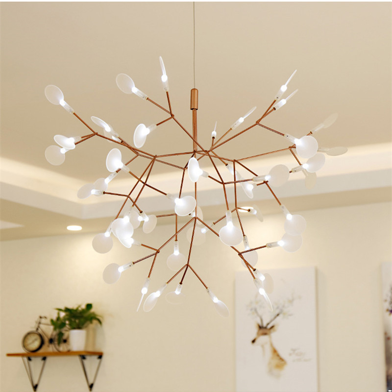 Post Modern Tree Leaves Pendant Lamps Nodric Tree Branches Design Pendant Lights Hanging Lamp For Living Dinning Room Bar Coffee