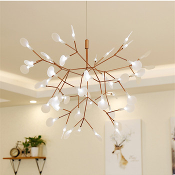 Post Modern Tree Leaves Pendant Lamps Nodric Tree Branches Design Pendant Lights Hanging Lamp For Living Dinning Room Bar Coffee modern pendant lights spherical design white aluminum pendant lamp restaurant bar coffee living room led hanging lamp fixture