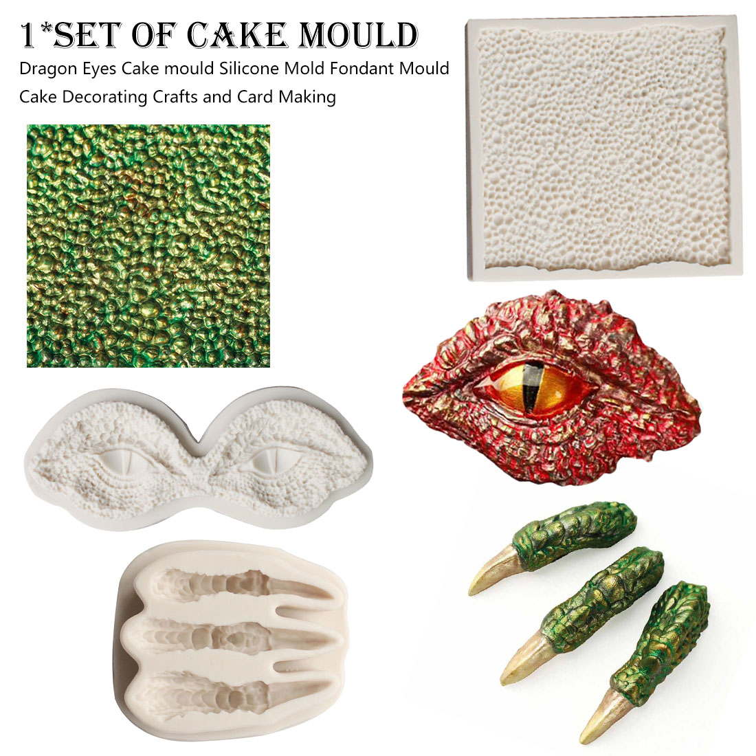 1pc Kitchen Gadgets Dragon Eyes Cake Mould Silicone Mold Fondant Mould Cake Decorating Crafts And Card Making