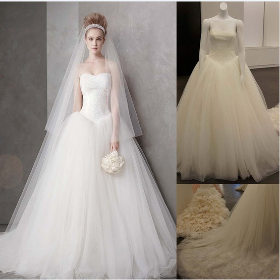 Free Shipping 2016 New Fashion Casamento Vestidos De Novia Formales Bride Dress White Long Party Ball Gown Lace Wedding Dresses