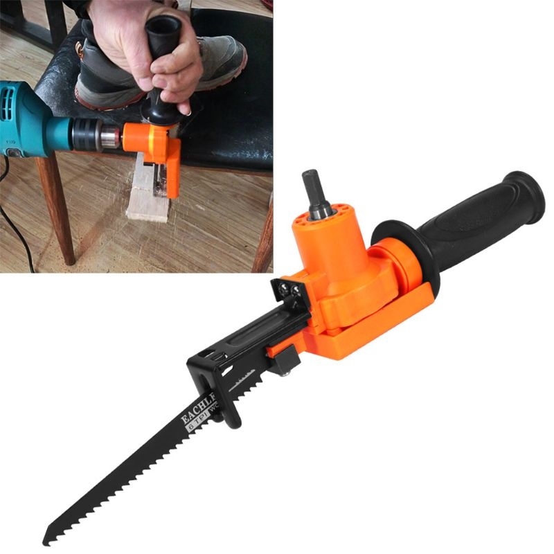 Portable Cordless Metal Cutting Reciprocating Saw Power Tool Electric Drill Fixing With Wood Blades Woodworking Tool
