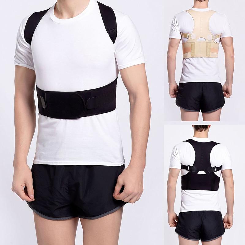 Male Female Adjustable Magnetic Posture Corrector Corset Back Brace Back Belt Lumbar Support Straight Corrector S-XXXL